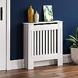 Vida Designs Cubre radiador Chelsea, diseño de Moderno con Lamas de DM Pintado de Color Blanco,pequeño