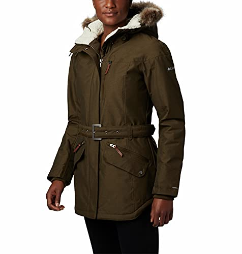 Columbia Carson Pass II Chaqueta Impermeable, Mujer, Verde (Olive Green), XL