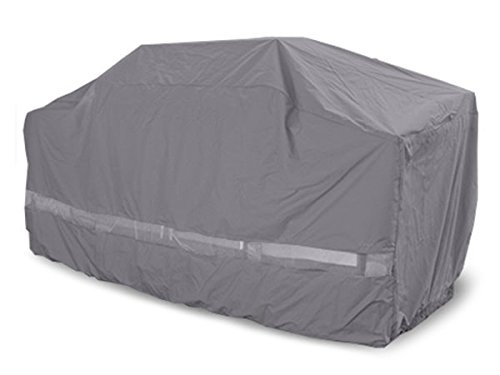 Covermates – Island Grill Cover – 98W x 40D x 46H – Elite – Elastic Hem for Secure Fit- Double Stitched Seams for Durability- 3 YR Warranty- Weather Resistant - Charcoal Covers Grill