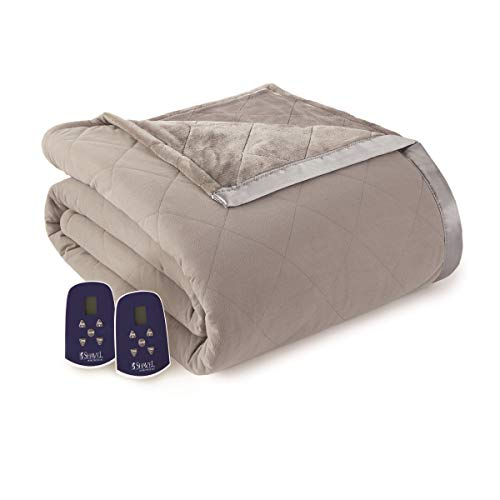 Thermee Micro Flannel Micro Flannel Electric Blanket, King, Pewter