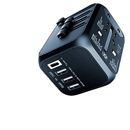 Universal Travel Adapter - International Worldwide Plug Kit, Type C + 3 USB Power Wall Charger, 200 Countries - UK, Europe, Asia, Israel, India, Italy, Argentina, France, New Zealand, Australia!