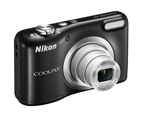 "Nikon Coolpix A10 Fotocamera Digitale Compatta, 16 Megapixel, Zoom 5X, LCD 2,8"", HD, Nero [Nital card: 4 anni di garanzia]"