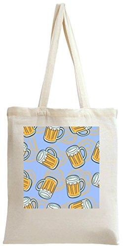 Bolso de mano con estampado de cerveza