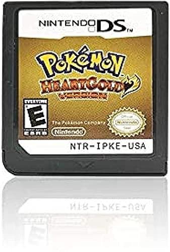 Pokémon Cœur version or, version Soul Silver, version platine, version Diamond Version, Pearl Version Game Cartridges Card for NDS 3DS DSI DS [Reproduction] (version cœur)