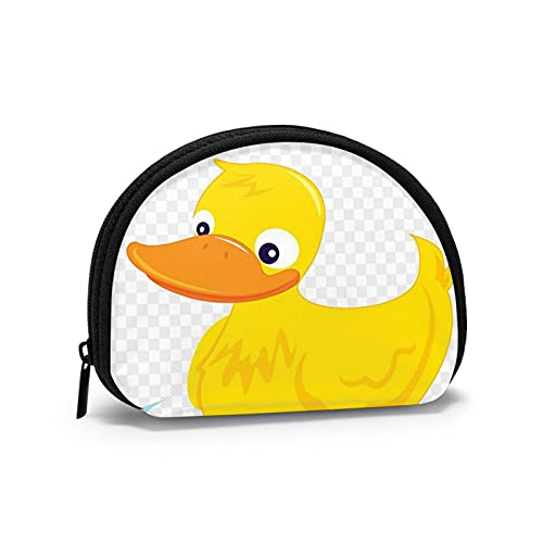 Monedero pequeño con cremallera, cartera de conchas, bolsa de viaje, bolsa de almacenamiento para mujeres y niñas, 10,7 x 9,5 cm., Pato (1), Talla única,