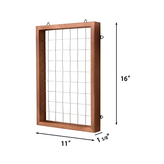 Mkono Air Plant Frame Tillandsia Wall Display, 7 7/8 Inch, 16 Inch 7 A wonderful way to display your tillandsias. This frame allows air and light to pass through. With hooks at the back, easy to hang anywhere, wall, windows or outdoor.