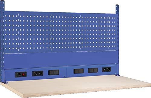 Thur Metall AG Lager- und Betriebseinrichtungen Werkbank-Aufbau B2000xT60xH700mm ohne Energieleiste lichtgrau
