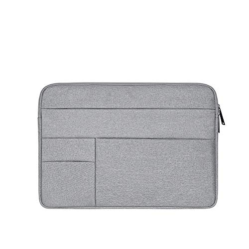 Baomasir Sleeve Case Oxford-Stoff wasserabweisend Laptop Hülle kompatibel 13-13,3 Zoll MacBook Pro/Air, Multi-Objekt-Tasche, große Kapazität, Grau