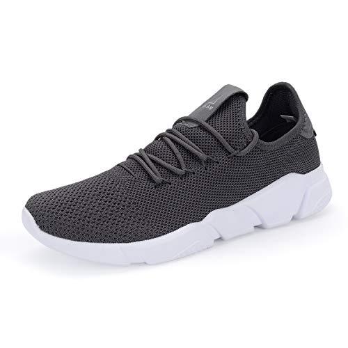 VAMJAM Womens Walking Running Shoes Slip-On Fashion Sneakers Tennis Casual Gym Shoes Grey 38