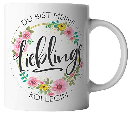vanVerden Tasse - Du bist meine Lieblings Kollegin - beidseitig Bedruckt - Geschenk Idee Kaffeetassen, Tassenfarbe:Weiß
