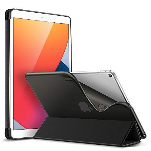 ESR Hülle für iPad 10.2, Schutzhülle für 8. Generation 2020/7. Generation 2019 [Auto Schlaf-/Wach Funktion] [Weicher Flexibler TPU Rückseite mit Sicht-/Tippständer]-Schwarz