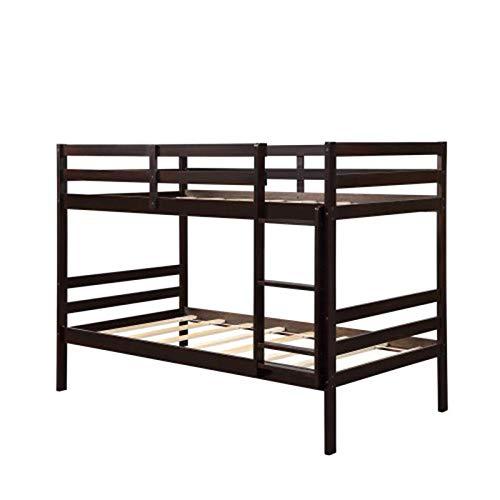 Ianqujiangxinqujianjunbaih Thuis Bed Stapelbed Rubberwood Tweepersoonsbed Twin Over Twin Massief Hout Voor Volwassenen Kinderen Tieners
