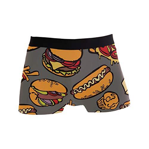 MONTOJ Cool Food Party Hamburger Pizza Hot Dog Herren-Boxershorts, sportlich inspiriert, Stretch Gr. M, 1