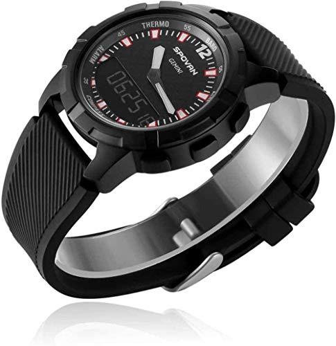 TYX-SS Reloj Deportivo Inteligente Brújula Altímetro Reloj de Movimiento mecánico de Doble Pantalla Espera Larga para Hombres Viajes Montañismo-A
