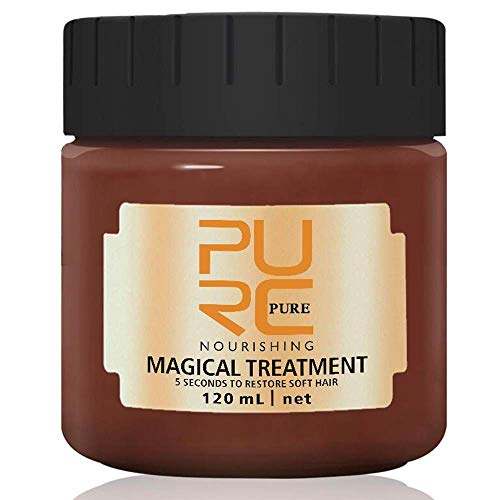 PURC Hair Treatment Mask, 120ML Magical Hair Mask 5 Seconds Repairs Damage Hair Root Hair Tonic Keratin Hair & Scalp Treatment