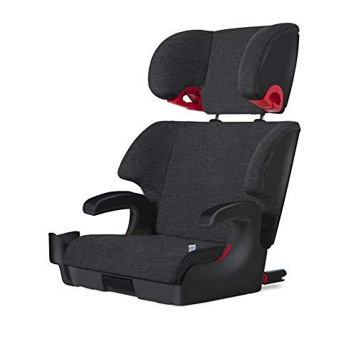 Clek Oobr High Back Booster Car Seat with Rigid Latch, Mammoth (Flame Retardant Free Merino Wool)