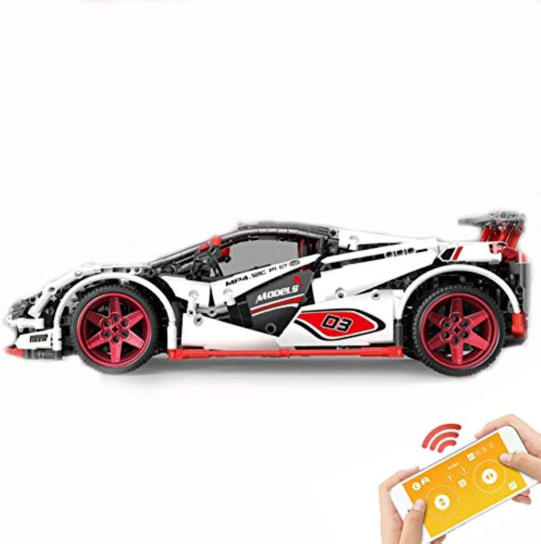 Yyz Rennserie Fernbedienung elektrische APP Icarus Rennsportwagen Fernbedienung Auto Montage und Einfügen von Bausteinen Spielzeug Geburtstagsgeschenke