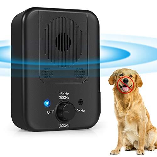 VIIMI 2020 Upgraded Mini Bark Control Device, Outdoor Anti Barking Ultrasonic Dog Bark Control with 3 Ultrasonic Frequency LevelsI(Black)
