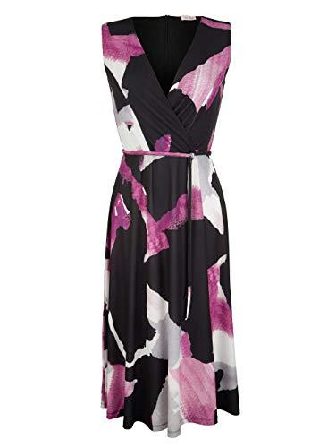 Alba Moda Damen Figurbetontes Midi Kleid in Schwarz
