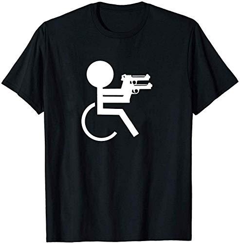 Volly Grappige Rolstoel Vrouwen Unisex 100% Katoen Humor Grafische O-hals Comfortabele Tee Mode Korte mouw Sport T-Shirt