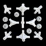 Shinekoo 15 Stück Ersatzteile für 3 x 6 m Pavillon, Markise, Zelt, Eck-Zentrum, Verbindungsstück 25/19 mm Pavillon-Ersatzteile