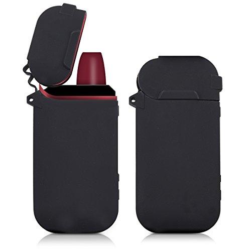 kwmobile Funda Compatible con IQOS 2.4/2.4 Plus Pocket Charger - Carcasa Protectora de TPU Silicona - Cover Trasero Negro
