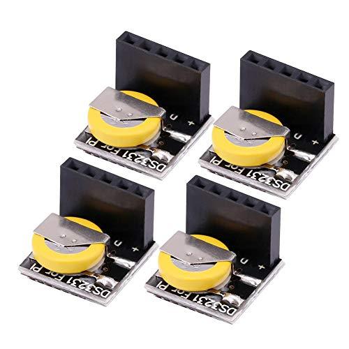 Belika Módulo de Almacenamiento de reloj-4pcs/set DS3231 Módulo de Reloj RTC de precisión de bajo Consumo de energía (incluida la batería)