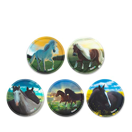 ergobag Klettie - Set, 5-Teilig, Klett, Wilde Pferde