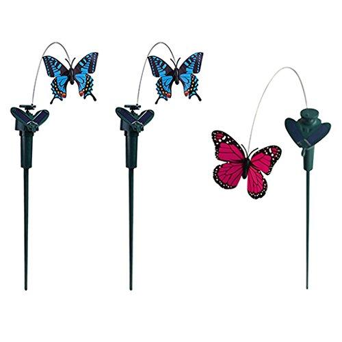 5 types solaire alimenté jardin décor dansant papillon scintillant pieu