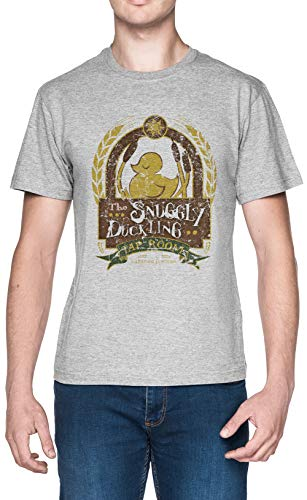 The Snuggly Duckling Gris Hombre Camiseta Tamaño L Grey Men's tee Size L