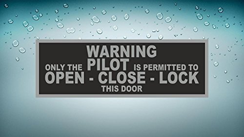 Akachafactory sticker auto vliegtuig aeroport waarschuwing alleen pilot cockpit