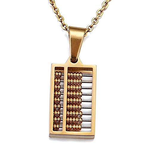 SHJMANJE Collar De Acero De Titanio, Colgante De baco, Buena Opcin como Regalo, Incluye Caja De Regalo, Gold