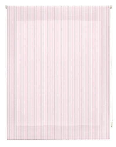 Blindecor Estor Enrollable, Tela, Rayas Rosa, 110 x 180 cm