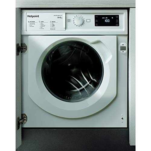 HOTPOINT BIWDHG961484 9kg Wash 6kg Dry Integrated Washer Dryer With Quiet Inverter Motor