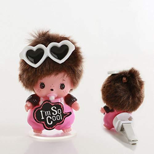 CKH Leuke Cartoon Flocking Hars Poppen Auto Outlet Parfum Decoratie Creatieve Home Decoraties Gift