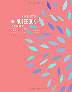 Dotted Notebook 8.5 x 11 Mandala: Big  Journal Notebook Baby Pink, Stylish Mandala Design, Blank, Dot Grid, , Soft Cover, Numbered Pages, No Bleed (Large Dotted Notebook Journals)