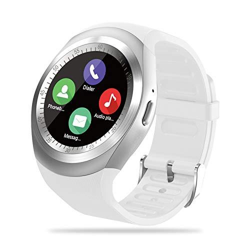 FENHOO Smartwatch, Orologio Fitness Tracker per Donna Uomo Bambini con Slot per Scheda SIM, Sportivo Activity Tracker con Chiamata Contapassi Notifiche Messaggi Orologio Sportivo per Android (bianca)