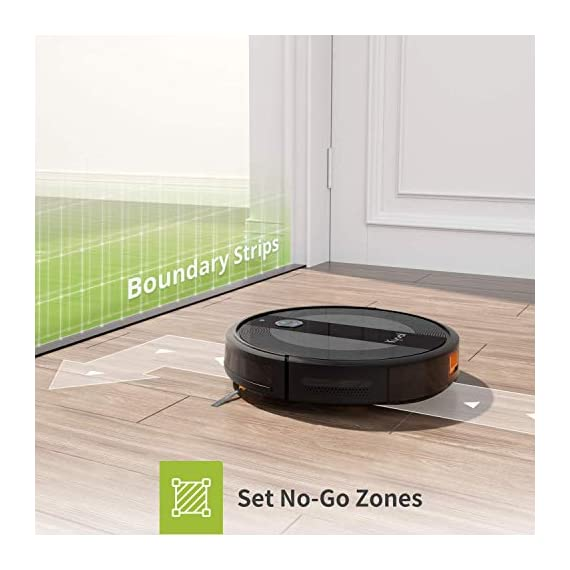 Kyvol cybovac e20 robot vacuum cleaner, 2000pa suction, 150 min runtime, boundary strips included, quiet, super-thin… 6 powerful suction & ultra-thin: 2000pa strong suction power, are suitable for hard floors to medium-pile carpets. Special design for daily cleaning, cybovac e20 can easily clean various dust, hairs, and cat litter from your room, carpet, and under furniture. Kyvol robotic vacuum cleaner has a slim 2. 85-inch body. It's thin enough to reach every corner of a house or narrow space, clean leftover dirty areas, and keep your house neat 150 min runtime & self-charging: this automatic vacuum cleaner robot has a high capacity lithium-ion battery of 3200mah and a charging base. It could continuously work about 150 minutes(max) to meet the cleaning needs from the living room to the bedroom. When the battery is low(light turns to orange), it will automatically return to the charging base smart app & voice control: you can easily create a cleaning schedule, change the cleaning mode, and control the cleaning direction by using the kyvol app. The auto vacuum cleaner robot is also compatible with alexa and google assistant, allowing users to let the robot start and stop the cleaning by voice commands. Use robots to save you time and energy