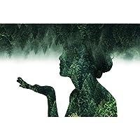抽象的な風景森の図ポスター壁アート画像キャンバスポスターとプリントHDプリント油絵壁画リビングルーム家の装飾フレームレス絵画