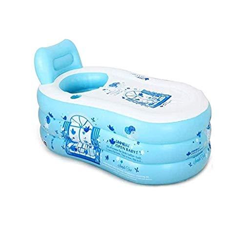 NXYJD Azul Color de la bañera Inflable, plástico Plegable portátil remojo Bañera Bañera Bañera de hidromasaje Inicio