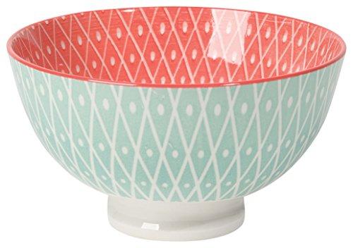 Now Designs Stamped Bowls (Set of 6), 10 oz, Light Blue/Pink