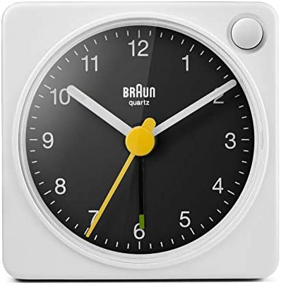 Braun Classic Travel Analogue Alarm Clock with Snooze and Light Compact Size Quiet Quartz Movement product image