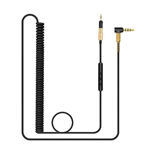 MYBOON Cable de Resorte de Audio para Auriculares de 3,5 mm -HD598 -HD558 -HD518