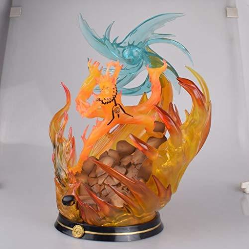 GGYY Naruto Shippuden : Susanoo Uzumaki Naruto Statue PVC Figures from Anime Gifts Collection Model Toy Masterpiece Figure (Illuminated Base) Figurines image