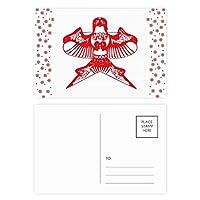 カイトの中国の伝統文化を切り紙 クリスマスの花葉書を20枚祝福する