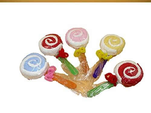 lockon6868 プチギフト プチタオル 個包装 贈答用 キャンディータオル キャンディー 粗品 お返し 卒園式 イベント 結婚式 ミニタオル (5個セット)