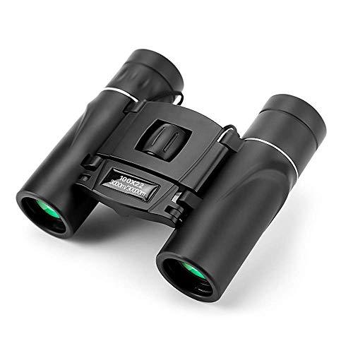 NIERBO Binoculares Plegables para niños Binoculares HD 100X22 de Alta magnificación Mini telescopio portátil para observación de Aves, Senderismo, Camping, Eventos al Aire Libre