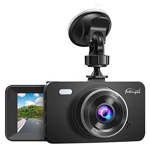 Pathinglek Dash Cam 1080P DVR Dashboard Camera FHD Car Driving Recorder 3 Inch Driving Camera LCD Screen, 170°Wide Angle, WDR, G-Sensor, Loop Recording, Parking Monitor, Motion Detection