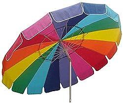 commercial Shock canopy 8'parasol, UV protection, ventilation, tilt pole, sand anchor, tote bag, rainbow shadezilla beach umbrella