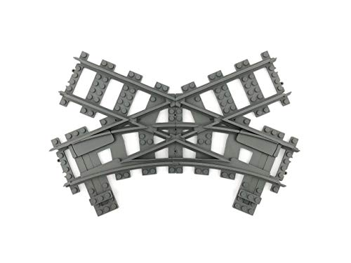 Trixbrix Single Slip R40, Compatible with Lego Train, 3D Printed!